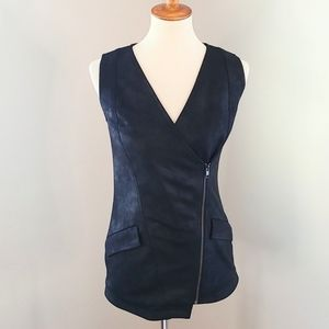 Designer DOO RI CHUNG Asymmetric Faux Leather Vest